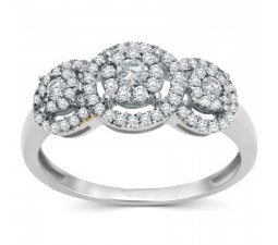 Classic 1 Carat Halo Design Round Diamond Engagement Ring