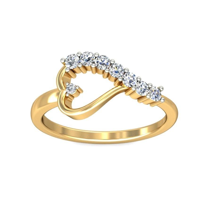 Gorgeous Heart Ring Diamond Engagement ring 025 Carat Diamond on