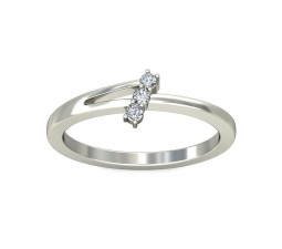 Three Stone Round Diamond Ring on Sale