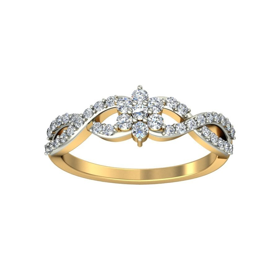Charming Diamond Engagement Ring 0 25 Carat Diamond On