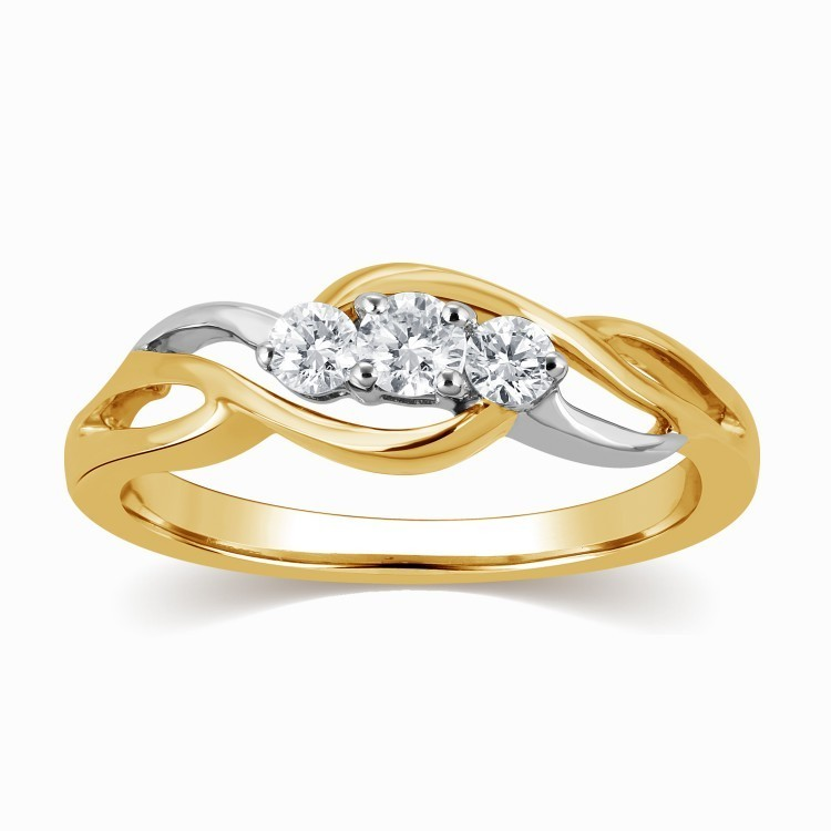 gorgeous infinity ring diamond ring 025 carat round cut