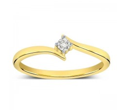 Round Solitaire Diamond Ring on Sale in Yellow Gold