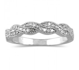 Antique Infinity design diamond Wedding Ring Band