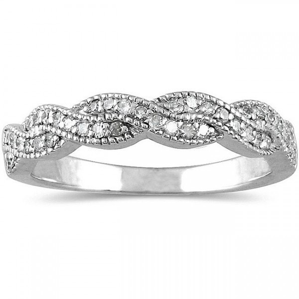 Antique infinity design diamond wedding ring band jeenjewels for Infinity design wedding ring