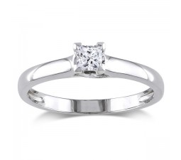 Half Carat beautiful Princess Solitaire Engagement Ring on Sale