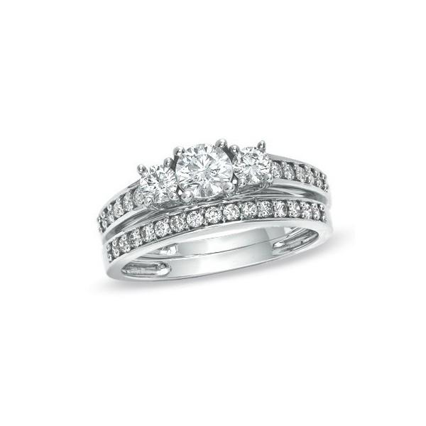 Discount Three Stone Sale Graceful Inexpensive Diamond Wedding Set 2 Carat R