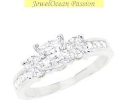1 Carat Princess cut Diamond Diamond Ring On 10K White Gold