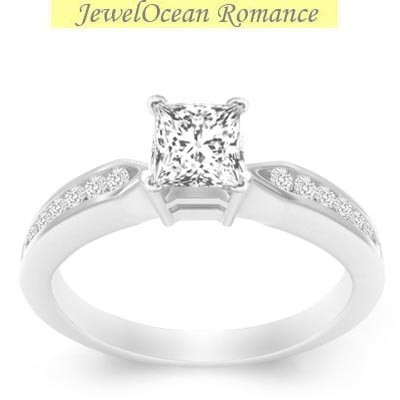 gleaming engagement ring 0 50 carat princess cut