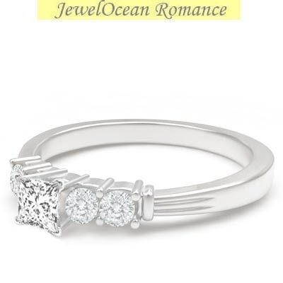 sparkling affordable engagement ring 0 50 carat princess
