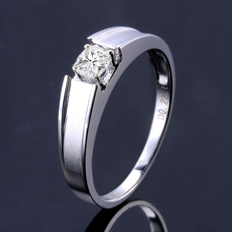 33 Carat Princess Cut Diamond Mens Diamond Wedding Band On 10K White Gold