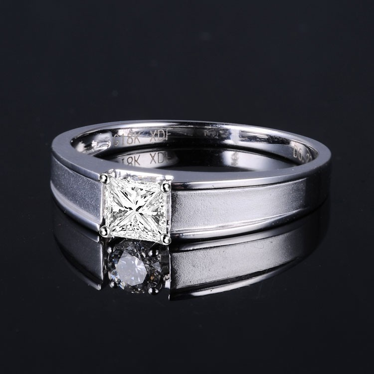 Carat Princess Cut Diamond Ring White Gold
