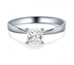 .33 Carat Princess cut Diamond Solitaire Engagement Ring On 10K White Gold