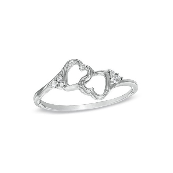 Exquisite Heart Ring Affordable Engagement 0 10 Carat Diamond On Gold