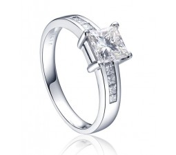 1 Carat Princess cut Diamond Engagement Ring