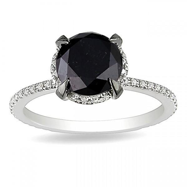 attractive black and white diamond halo diamond ring 200
