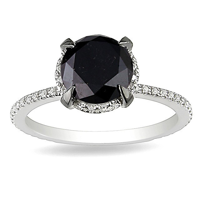 Halo Ring Halo Ring With Black Diamond