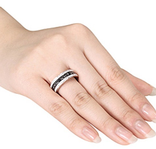 76 Black And White Diamond Wedding Band