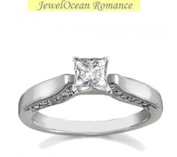 Half Carat Antique Solitaire Diamond Engagement Ring for Her