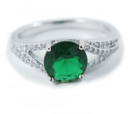 Perfect 1.50 Carat Green Cubic Zirconium Antique Engagement Ring under $100