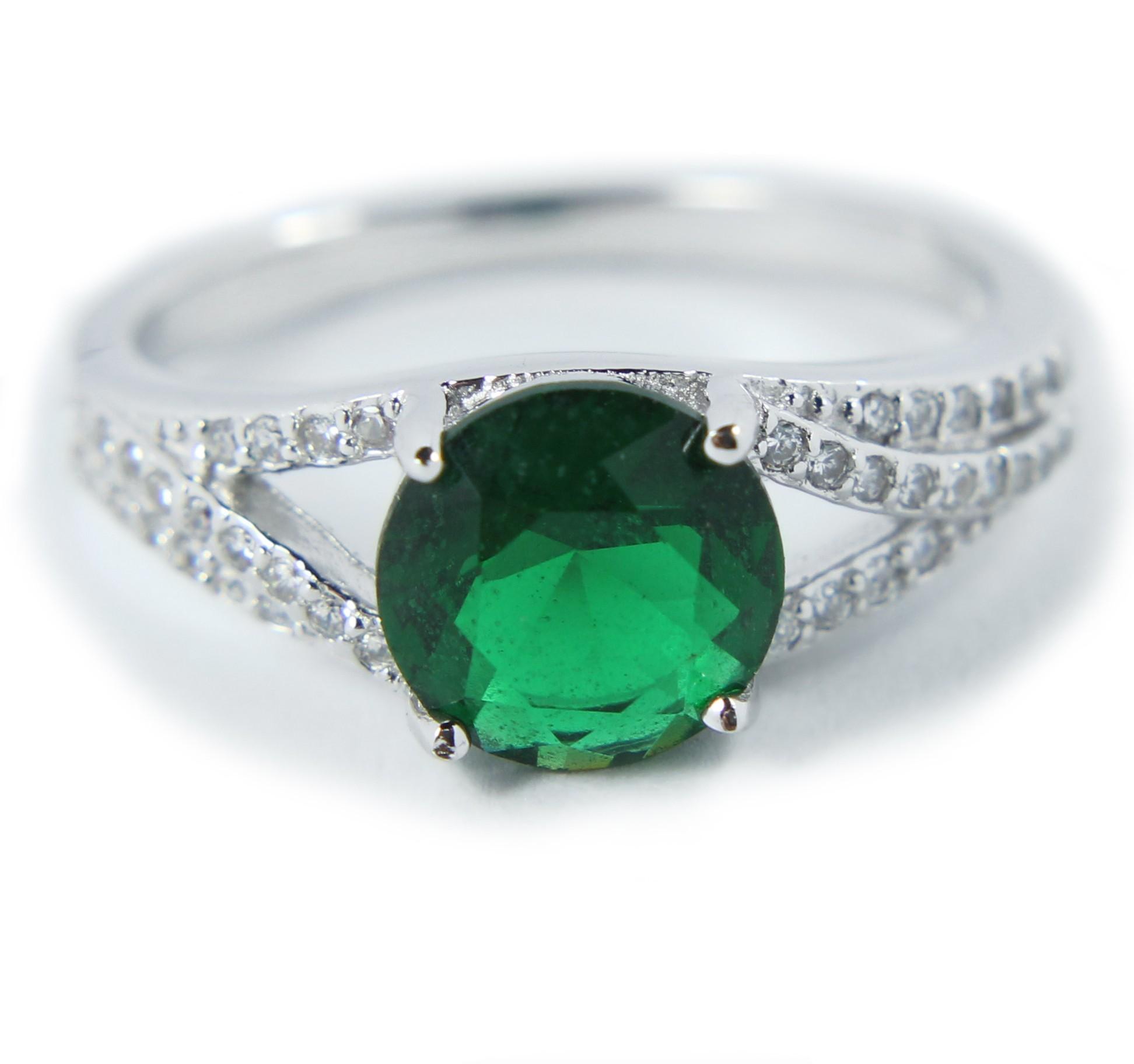 Perfect 150 Carat Green Cubic Zirconium Antique Engagement Ring Under 100