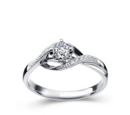 1/3 Carat Diamond Engagement Ring on 10k White Gold