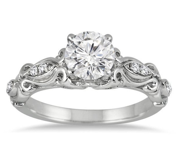 perfect half carat antique round diamond engagement ring - Perfect Wedding Ring
