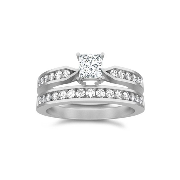 bridal set on - Affordable Wedding Ring Sets