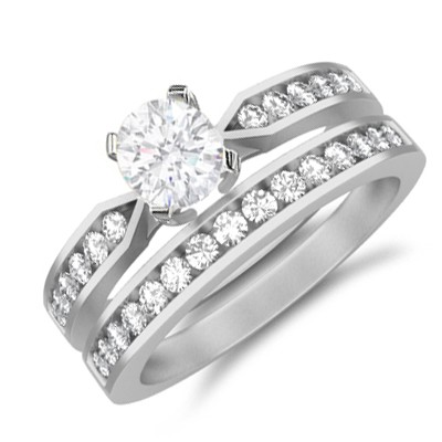 bridal set on - Affordable Wedding Rings Sets