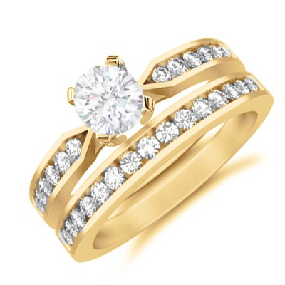 bridal set on bridal set on next 1 carat princess cut diamond affordable wedding - Affordable Wedding Ring Sets