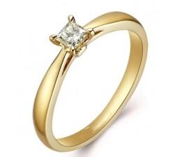 .25 Carat Princess cut Diamond GIA Certified Princess Engagement Ring on Closeout Sale 10K Yellow Gold