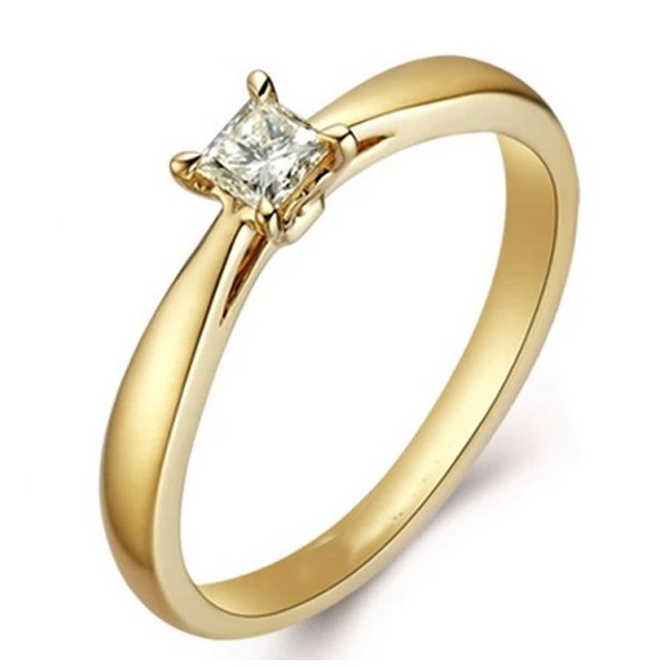 Attractive GIA Certified Cheap Solitaire Wedding Ring 0 25 Carat Princess Cut
