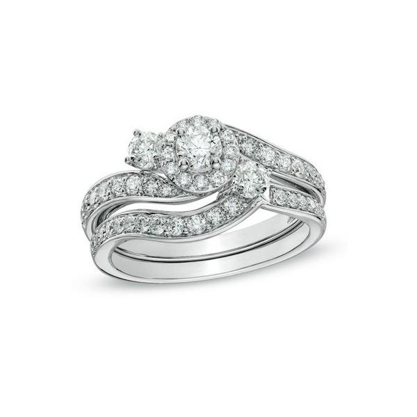 00d0594a33 Precious Diamond Wedding Ring set 0.92 Carat Round Cut Diamond on ...