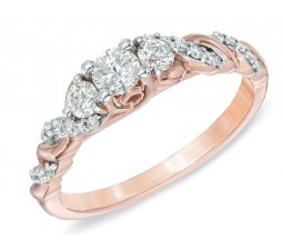 Perfect Wedding Ring 0.50 Carat Round Cut Diamond On Rose Gold