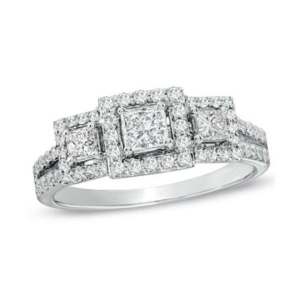 and cut triple pav shop rings princess f rows wedding diamond engagement ring row