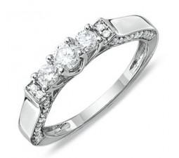 Half Carat Round Diamond Wedding Ring Band in Antique Setting