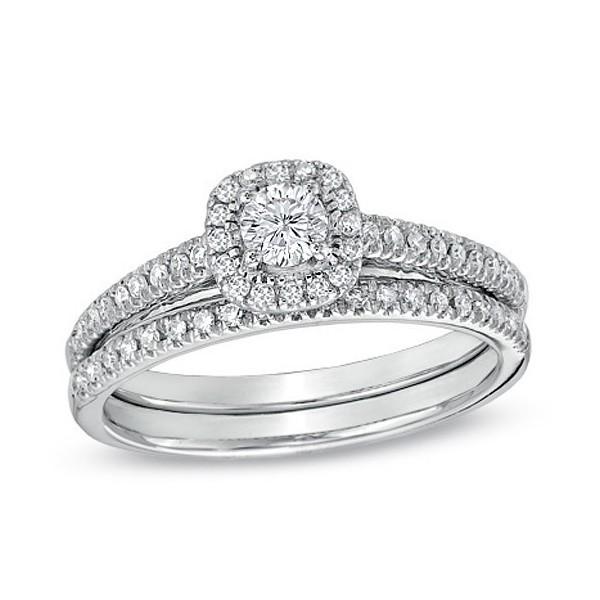Zales Platinum Ring No Center Stone