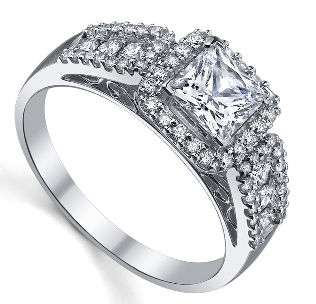 Divine Diamond Engagement ring 1.00 Carat Princess Cut ...