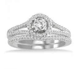 1.15 Carat Round Diamond Engagement Ring for Women in White Gold