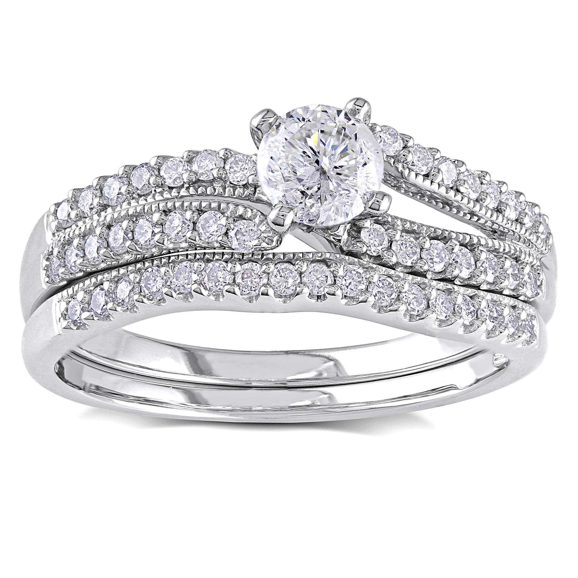 Bridal sets diamond bridal sets for women for Ladies diamond wedding ring sets