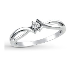 Perfect Round Diamond Infinity Solitaire Engagement Ring in White Gold