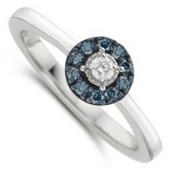 Sale 1 4 Carat Round Diamond and Sapphire Halo Engagement Ring in White Go