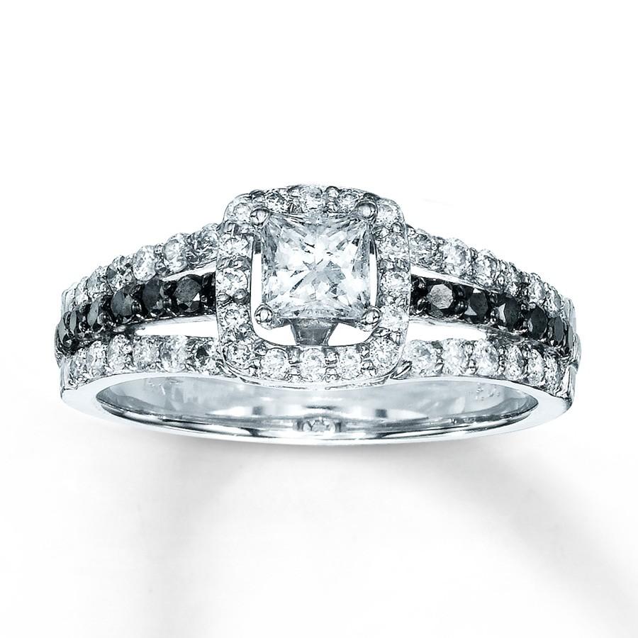 special 1 carat princess design diamond engagement ring for her jeenjewels. Black Bedroom Furniture Sets. Home Design Ideas