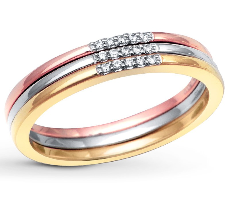 color tri set gold his and wedding hers rings
