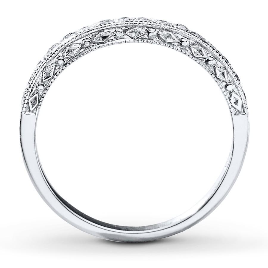 vintage round milgrain wedding ring band in white gold milgrain wedding band Vintage Round Milgrain Wedding Ring Band in White Gold