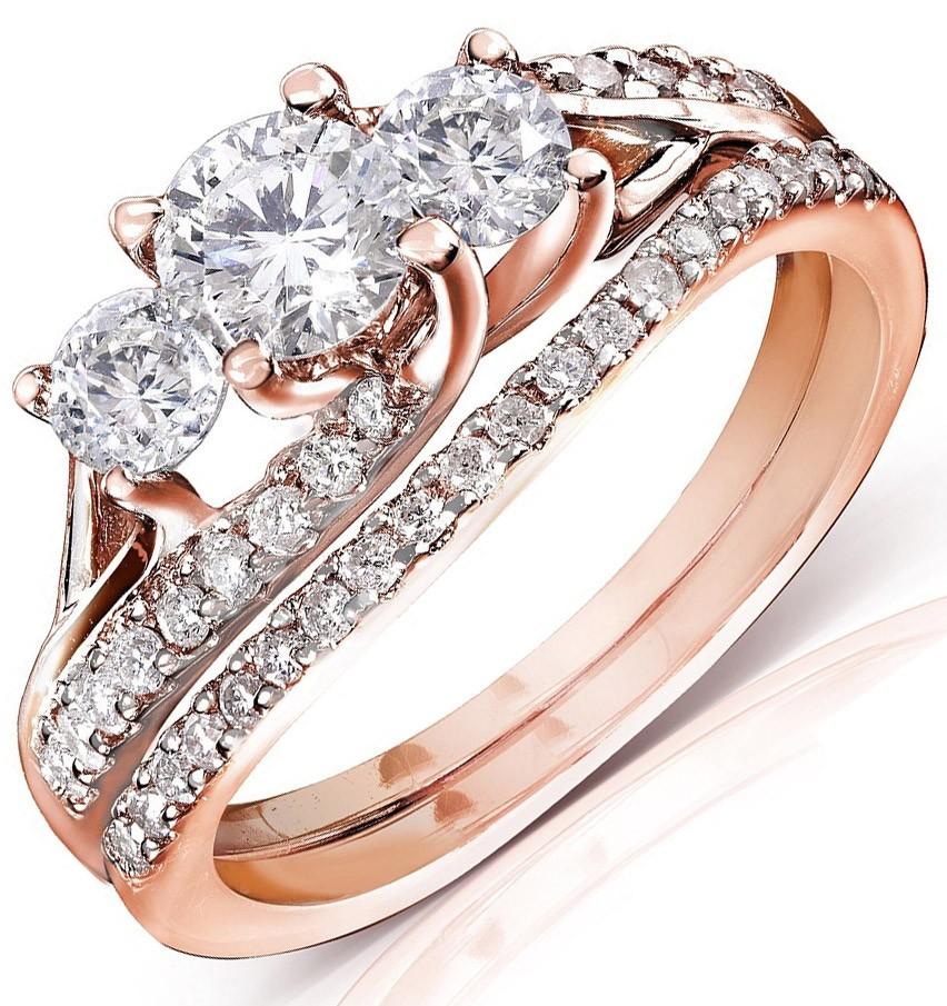 Wedding Sets Wedding Sets Rose Gold