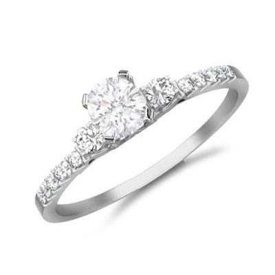 Affordalbe Diamond Engagement Ring On JeenJewels