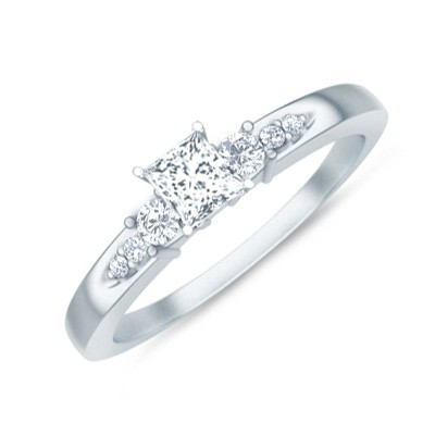 multistone ring on multistone ring on - Affordable Diamond Wedding Rings