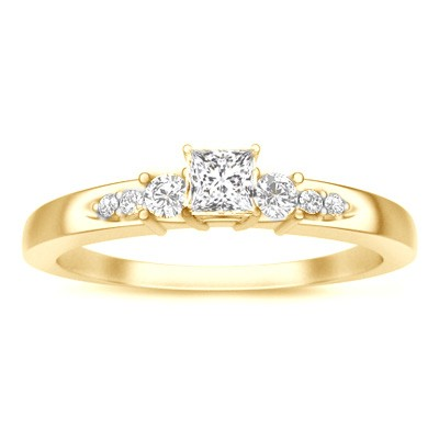 multistone ring on - Cheap Gold Wedding Rings