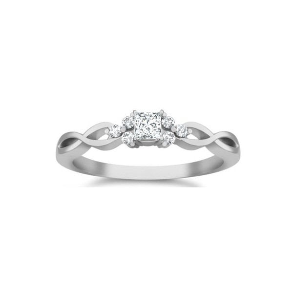 affordable diamond engagement ring 10k white gold multistone ring on - Affordable Diamond Wedding Rings