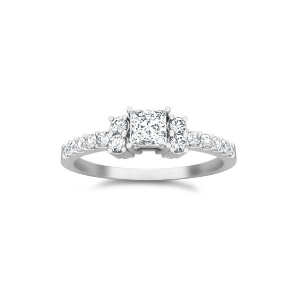 multistone ring on - Affordable Diamond Wedding Rings